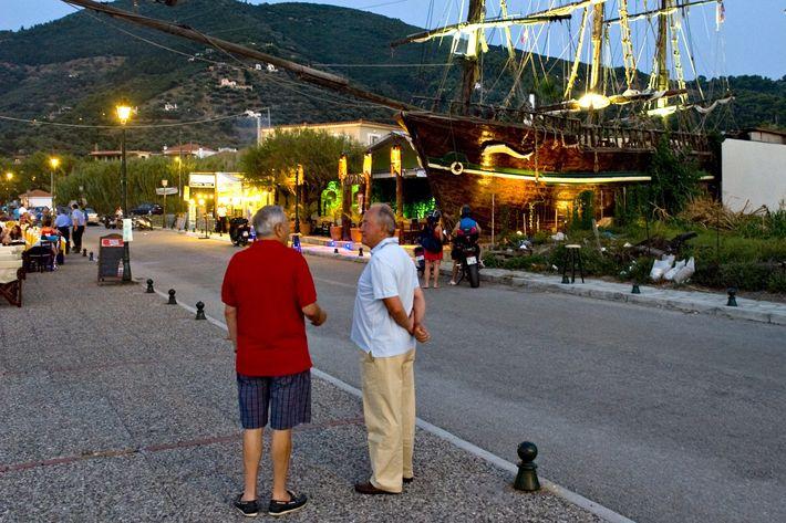 Locals in Skopelos.