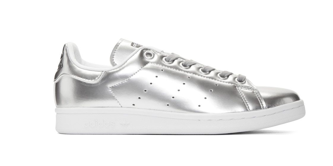 adidas Originals Stan Smith silver sneakers
