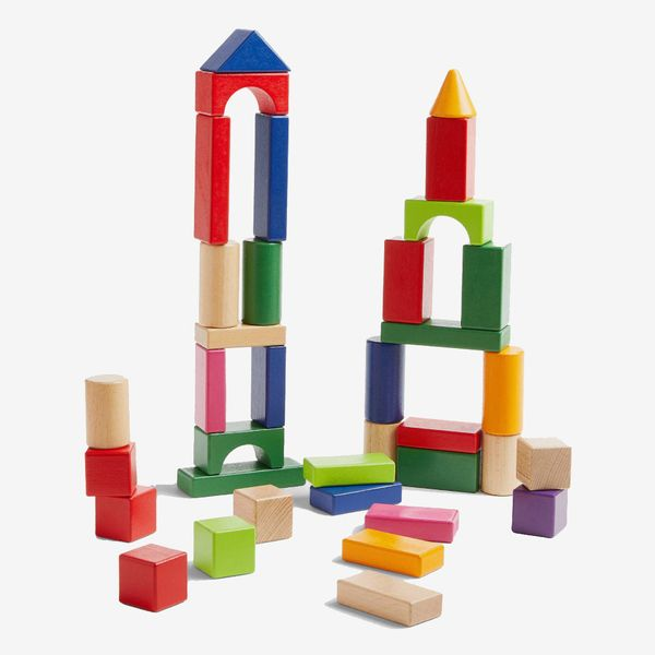 100 Wooden Building Blocks