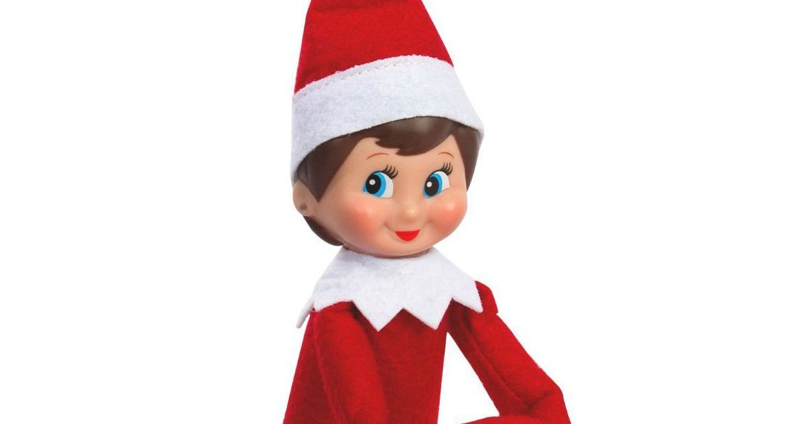how to draw a elf on the shelf face