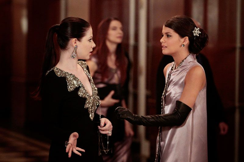 "GOSSIP GIRl-- ""Monstrous Ball"" --  (L-R): Michelle Trachtenberg as Georgina Sparks and Sofia Black-D'Elia as Sage"