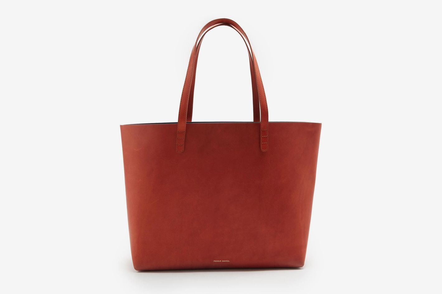 Mansur Gavriel Red-Lined Large Leather Tote Bag