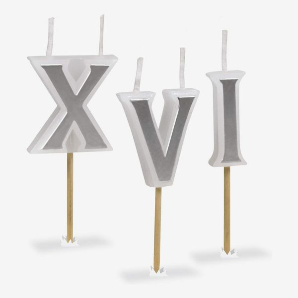 Fred & Friends Roman Numeral Birthday Candles