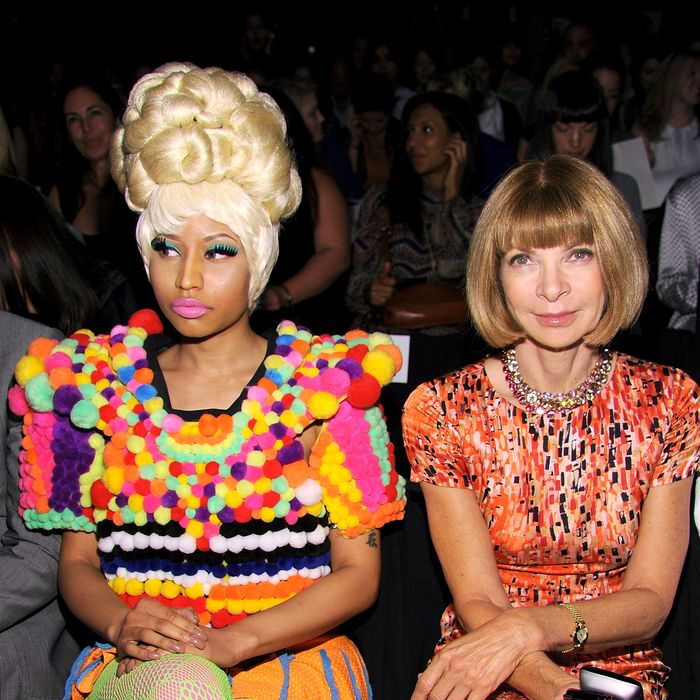 Nicki Minaj and Anna Wintour.