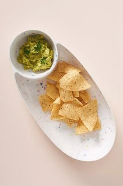 Anthropologie Selby Terrazzo Bamboo Melamine Chip & Dip