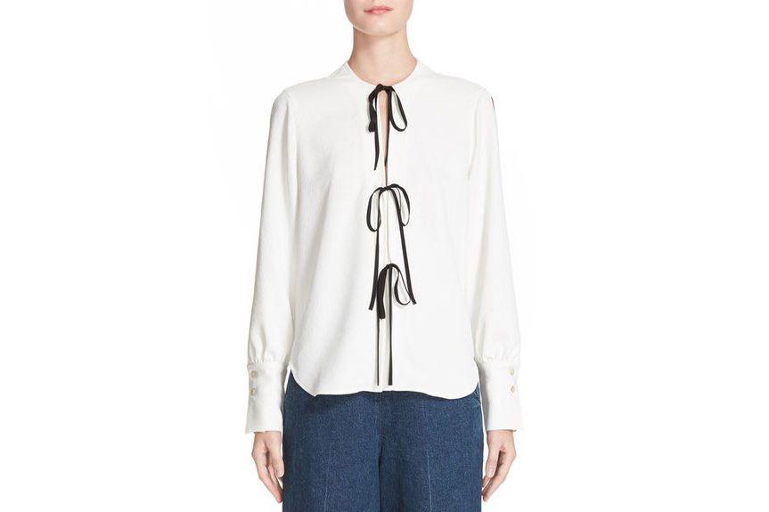 Rachel Comey Meryl Tie Front Blouse