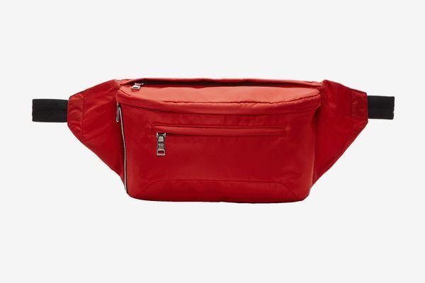 Prada Red Nylon Fanny Pack