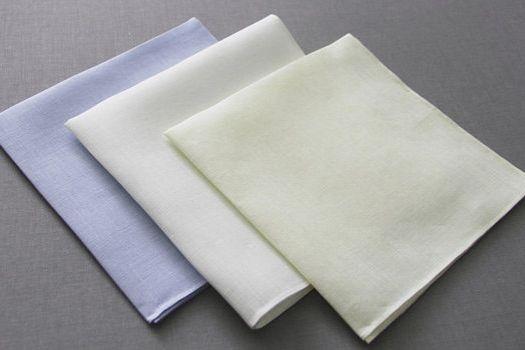 Irish Linen Hand Rolled Pocket Square
