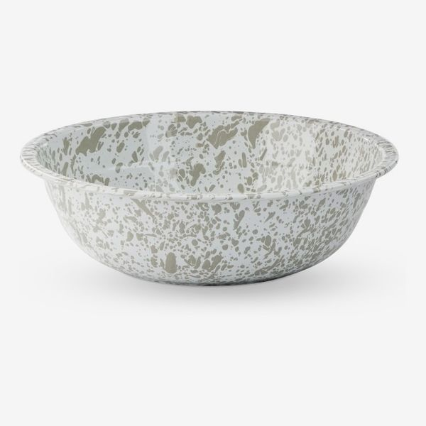 Williams Sonoma 12-Inch Grey Splatterware Enamel Salad Bowls