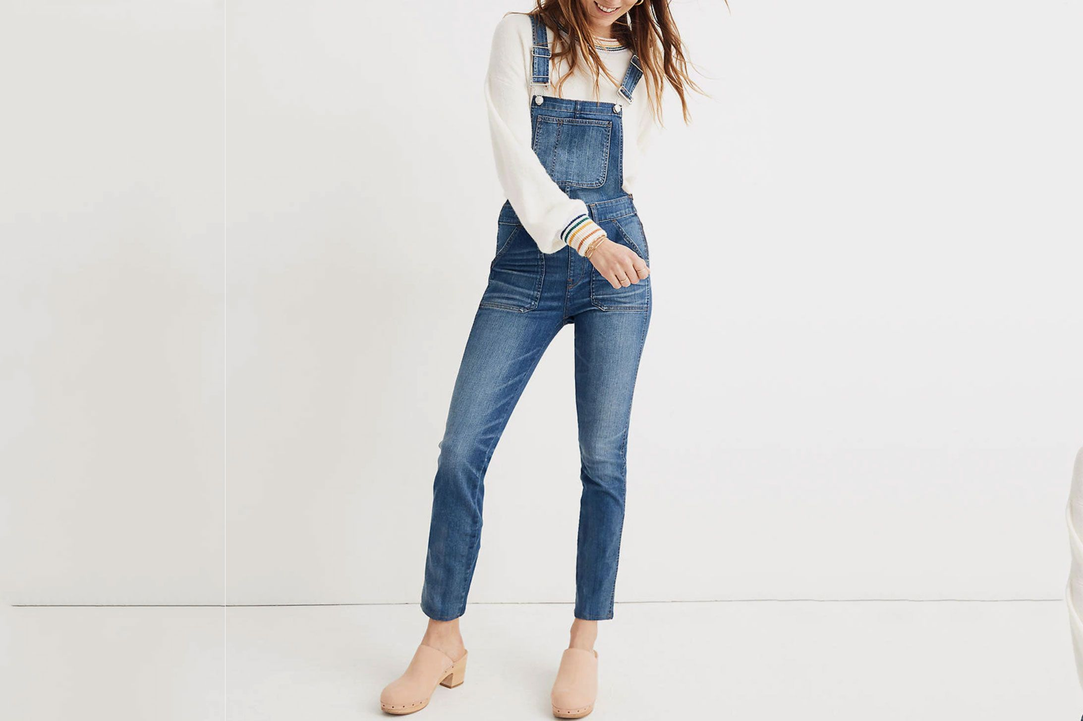 Madewell Skinny Overalls in Jansing Wash