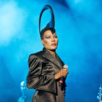 Grace Jones performs at Blackheath Common on September 13, 2014 in London, England.