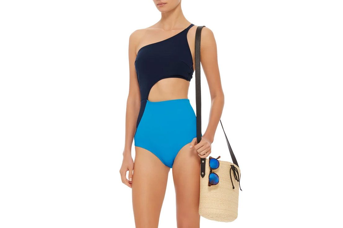 Flagpole Swim Ali Asymmetric One Piece