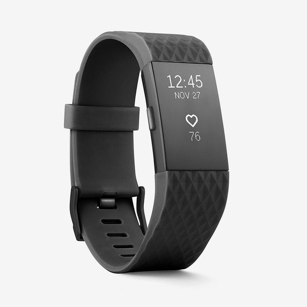 black gunmetal fitbit charge 2 heart rate wristband - strategist fitness trackers on sale