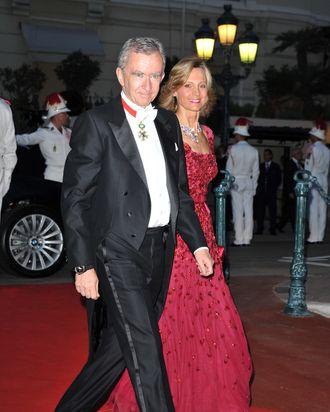 Bernard Arnault, chairman of LVMH, with his wife, Helene Arnault.