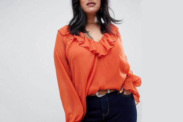 ASOS Curve long sleeve blouse