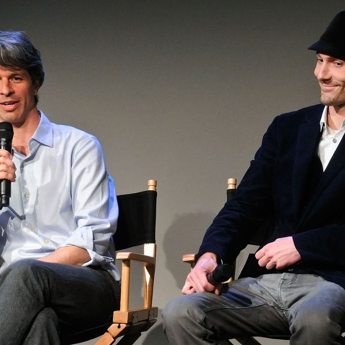 NEW YORK, NY - APRIL 22: Marshall Curry and Matthew VanDyke attend Meet The Filmmaker: Marshall Curry And Matthew VanDyke,