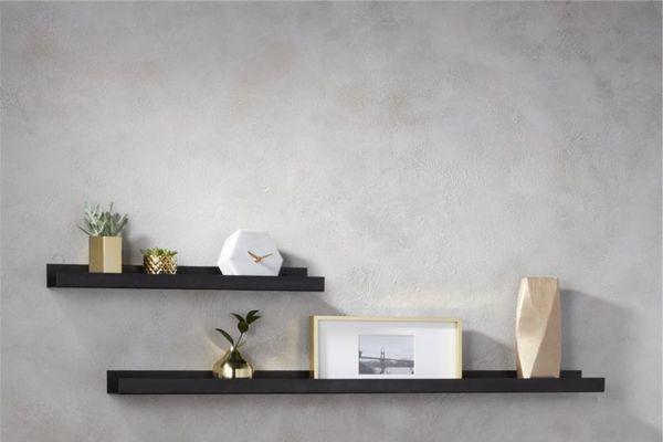 CB2 Gunmetal Wall Shelf, 24-Inch