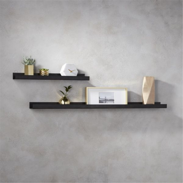 CB2 Gunmetal Wall Shelf, 24-Inch