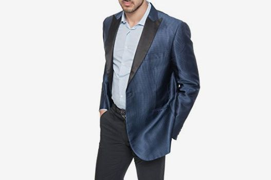 Brioni Dark Blue Lustrous Silk Tuxedo Jacket