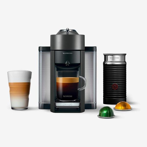 Nespresso Breville Vertuo Espresso Machine with Aeroccino Milk Frother