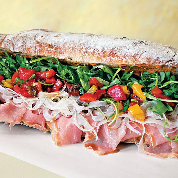 Alidoro's new namesake prosciutto sandwich.