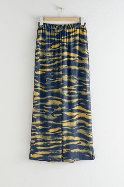 & Other Stories Relaxed Tiger Print Trousers