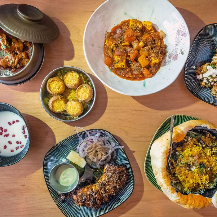A spread of dishes at Adda.