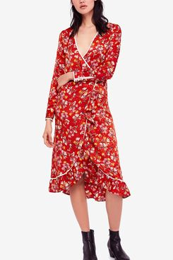 Free People Covent Garden Midi Wrap Dress