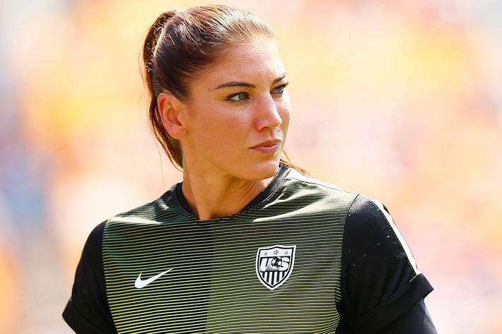 U.S. Women's National Team goalie Hope Solo.