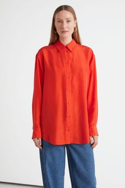Relaxed Button Up Mulberry Silk Shirt
