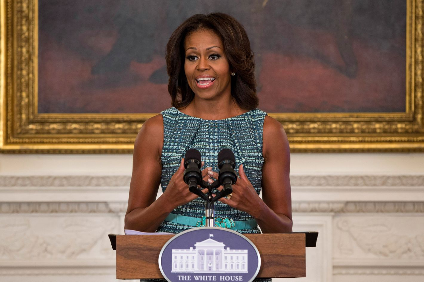 The First Lady, opening yesterday's summit.