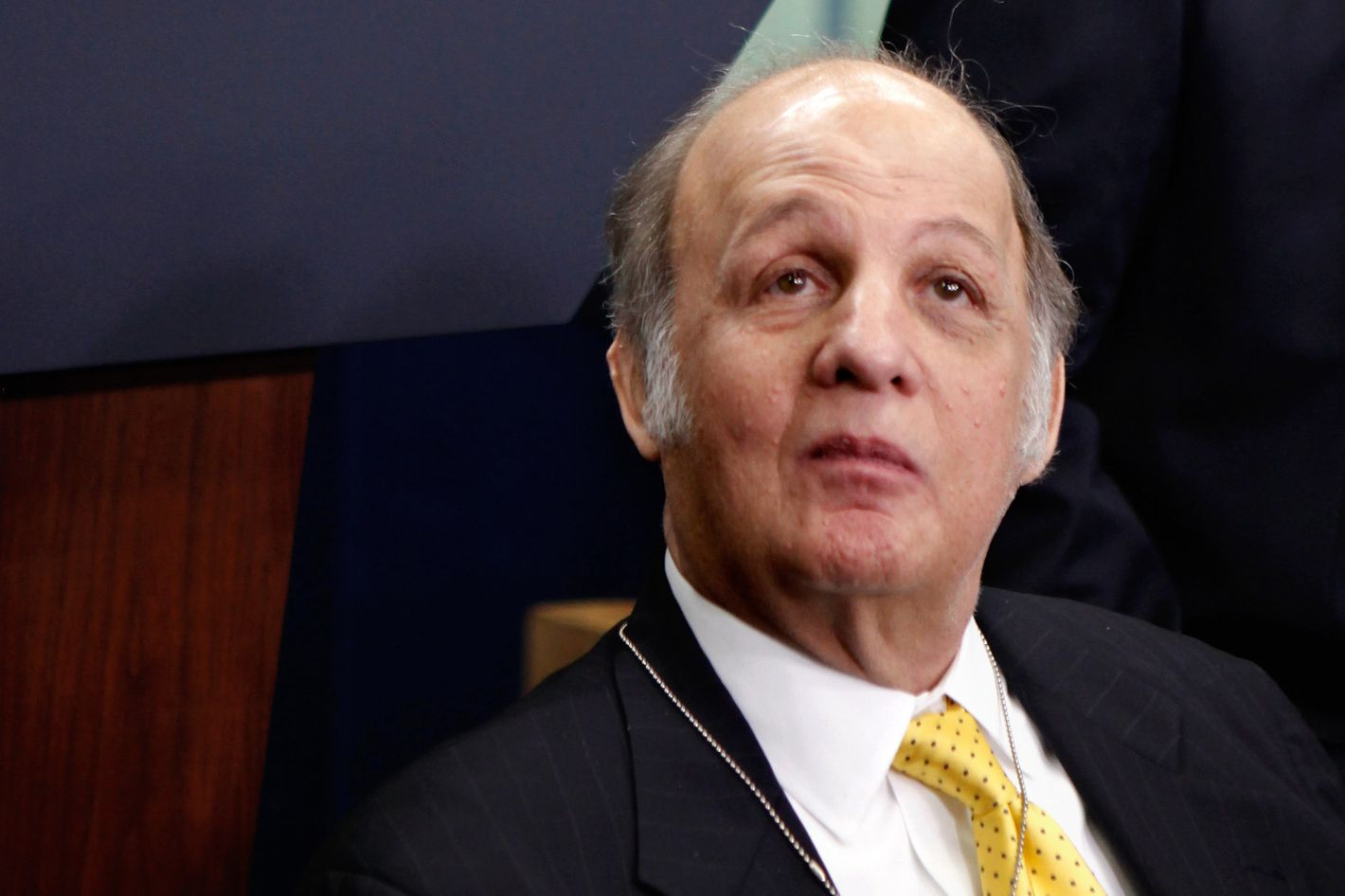 Former White House Press Secretary James Brady visits the press briefing room that bears his name in the West Wing of the White House March 30, 2011 in Washington, DC. Brady was visiting the White House on the 30th anniversary of the day he was shot in the head by John Hinckley, Jr., during his attempted assassination former President Ronald Reagan March 30, 1981.