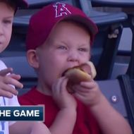 Hero Kid Rescues Dropped Hot Dog Like a Boss