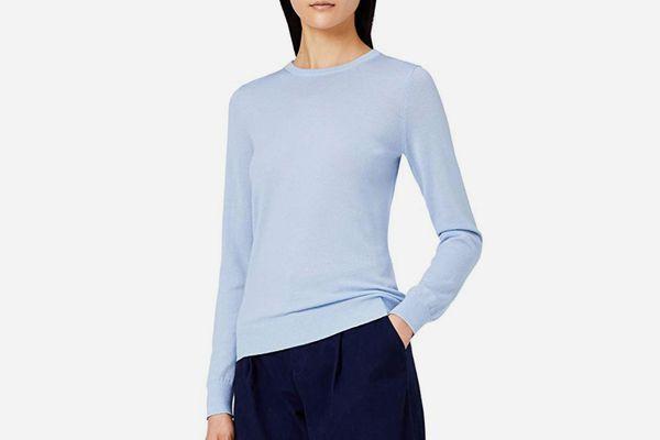Meraki Women's Fine Merino Wool Crew Neck Sweater