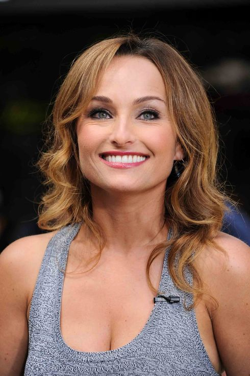 "Giada de Laurentiis visits ""Extra"" at The Grove on August 20, 2013 in Los Angeles, California."