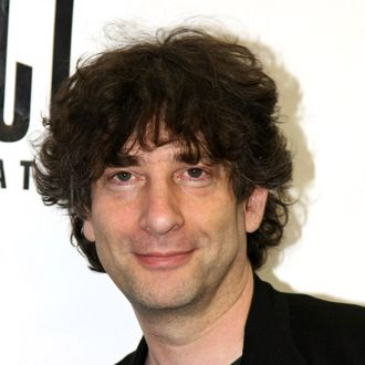 Author Neil Gaiman attends the celebration for the world premiere of the musical,