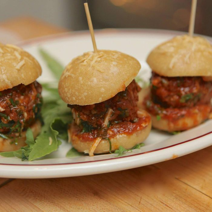 The Little Owl's meatball sliders will be in attendance.