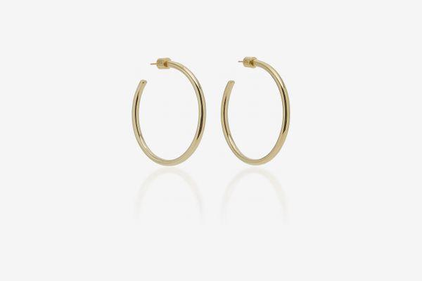 Jennifer Fisher Baby Classic 14K Gold-Plated Hoop Earrings