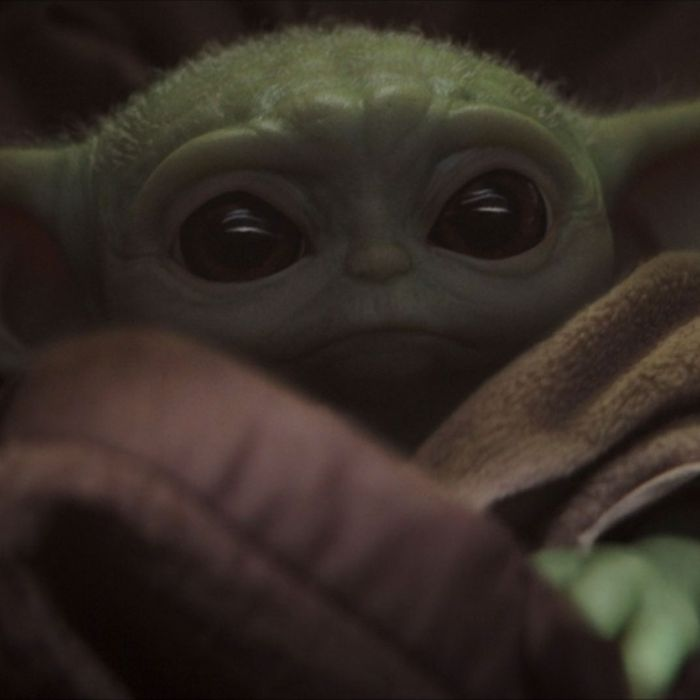 Baby Yoda looking extremely cute in The Mandalorian.