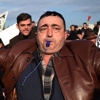 BUCHAREST-AGRICULTURE-SHEPHERDS-PROTEST
