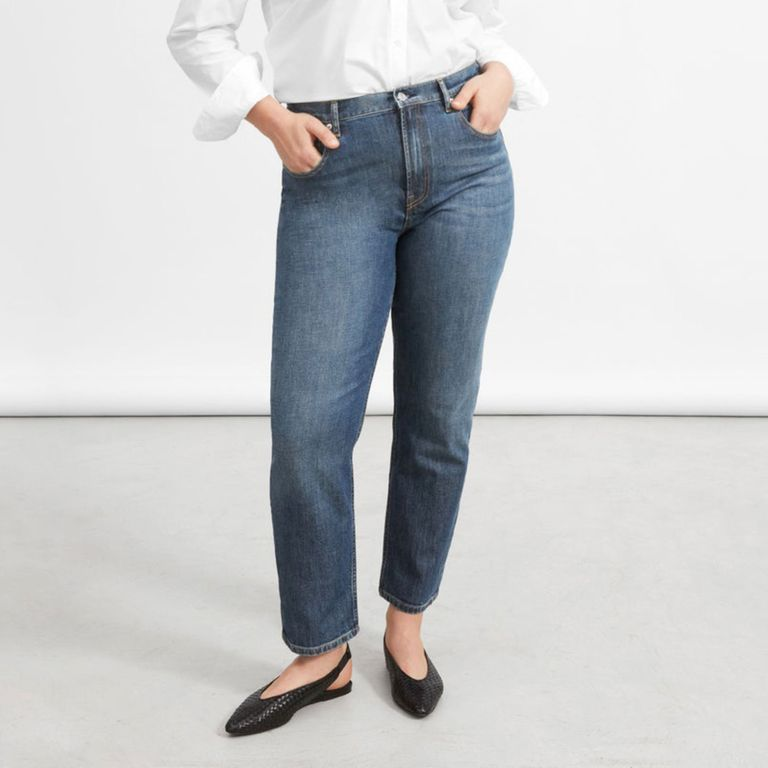 Everlane The Cheeky Straight Blue Jeans