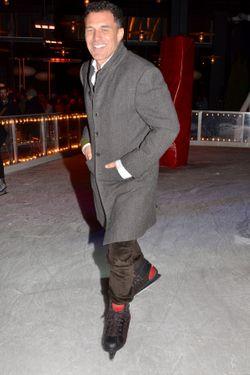 Balazs, just skatin' around last night.