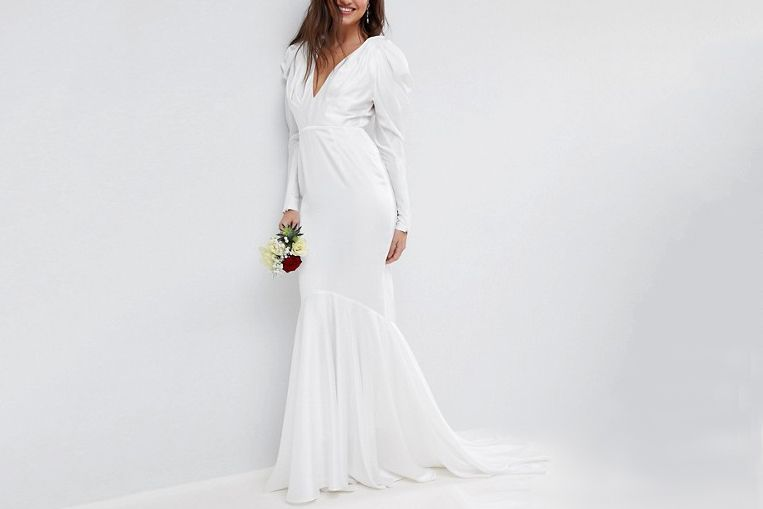 9dc75e49a5d If You Want to Spend Less Than  500. ASOS BRIDAL Pintuck Shoulder Maxi Dress  ...