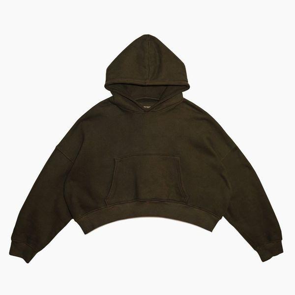 Sebastien Ami Cropped Pullover Hoodie