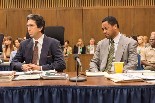 "THE PEOPLE v. O.J. SIMPSON: AMERICAN CRIME STORY ""A Jury In Jail"" Episode 108 (Airs Tuesday, March 22, 10:00 pm/ep) -- Pictured: (l-r) David Schwimmer as Robert Kardashian, Cuba Gooding, Jr. as O.J. Simpson. CR: Prashant Gupta/FX"