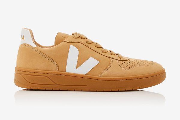 VEJA Bastille Two-Tone Leather-Trimmed Nubuck Sneakers