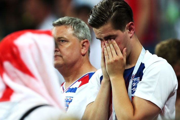 Crying English fans.