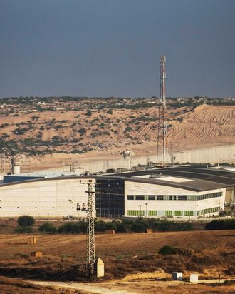 The Erez border crossing seperating Gaza and Israel is seen on the morning of July 18, 2014 near Sderot, Israel. Late last night the Israel operation