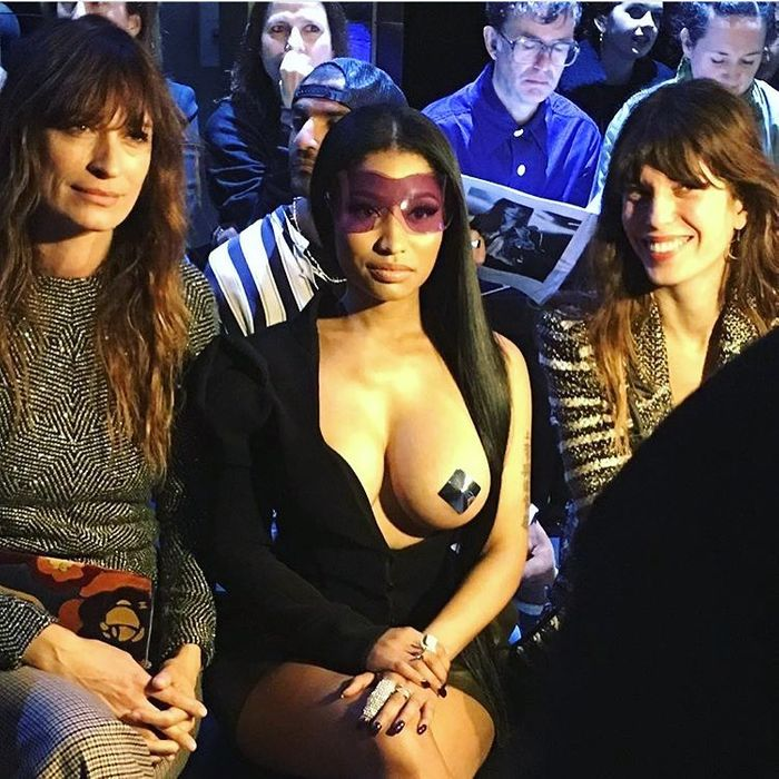 10aca397a11381 Nicki Minaj at the Haider Ackermann show. Photo: Alexander Fury/Instagram