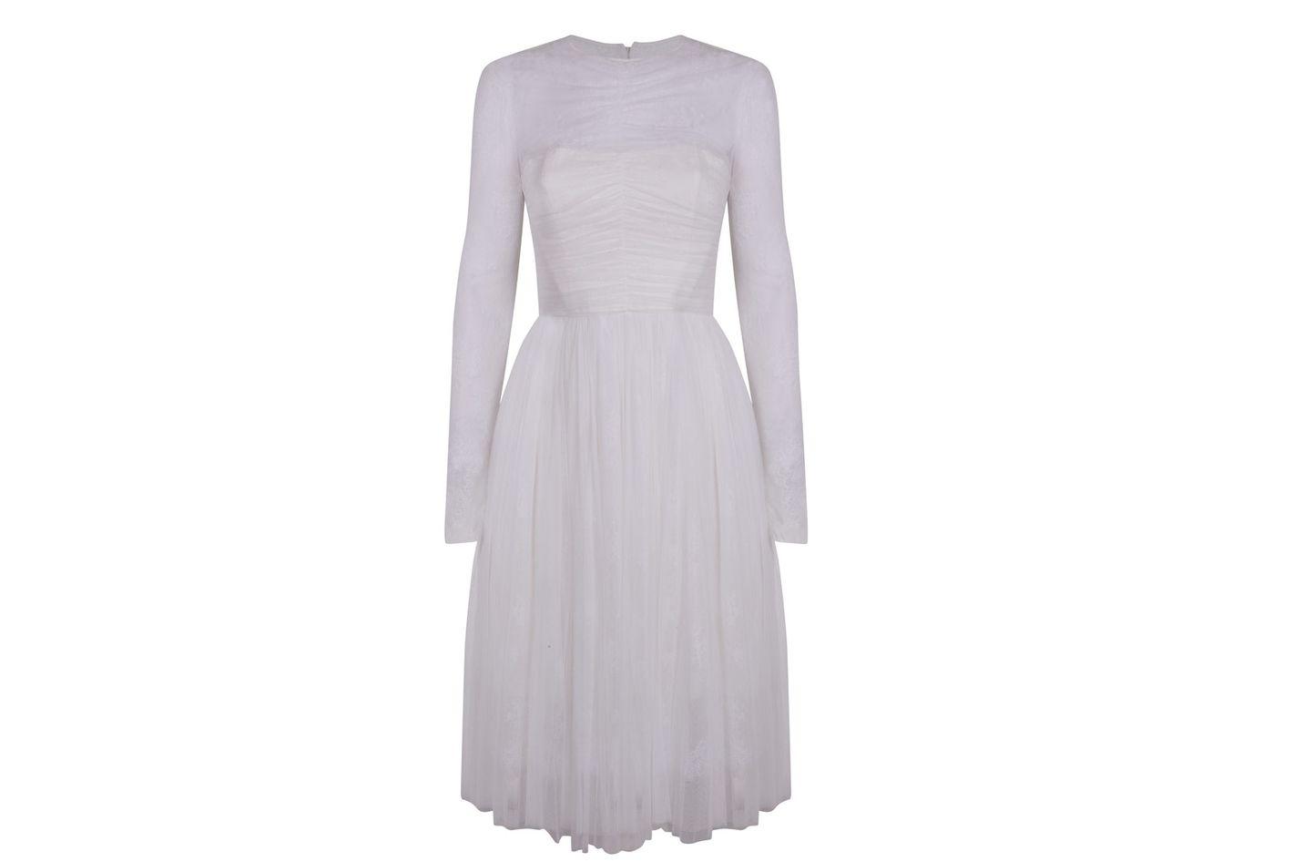 Tulle Midi Bridal Dress